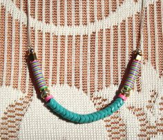 Turquoise Snake bead necklace - little lost love