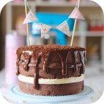 Naked Cake com recheio de brigadeiro e 4 leites- ICKFD