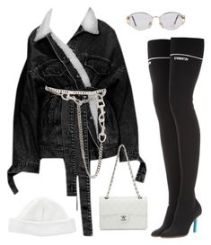 """""""Untitled #601"""" by za-r-ia ❤ liked on Polyvore featuring Vetements, Chanel, Versace, Acne Studios and Christian Dior"""