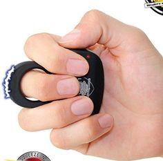 Stuns R Us Sting Ring 18 Million Volt Stun Gun Perfect Back to School Discrete Defense Rechargeable Black
