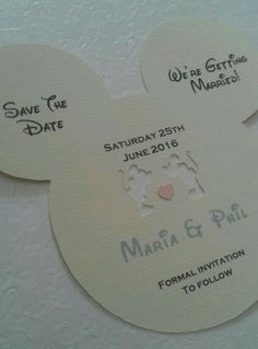 disney inspired save the date card invitations x 231666030431 roken cugayn site.Encouraged to our website, with this occasion I'm going to explain to you with regards to Disney Wedding Save . Wedding Save The Dates, Save The Date Cards, Our Wedding, Dream Wedding, 1920s Wedding, Wedding Summer, Trendy Wedding, Wedding Stuff, Wedding Flowers