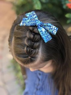 Floral Schoolgirl Bows (Rifle Paper Co. English Garden)You can find Little girl hairstyles and more on our website.Floral Schoolgirl Bows (Rifle Paper Co. Girls Hairdos, Cute Little Girl Hairstyles, Cute Girls Hairstyles, Hairstyles For School, Pretty Hairstyles, Braided Hairstyles, Cute Toddler Girl Hairstyles, Teenage Hairstyles, Medium Hairstyles