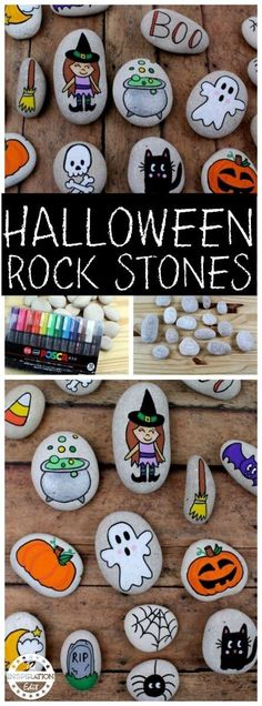 Rock Painting Idea For Kids Halloween Painted rocks kids will love. Great story stone or Halloween decor idea.Halloween Painted rocks kids will love. Great story stone or Halloween decor idea. Fairy Halloween Costumes, Halloween Rocks, Halloween Crafts For Kids, Halloween Boo, Halloween Treats, Vintage Halloween, Dollar Store Halloween, Halloween Activities, Halloween 2018