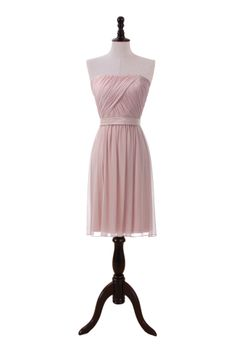 Strapless Chiffon Dress With Draped Bodice,US$190.00 ,Style No.0bd01453
