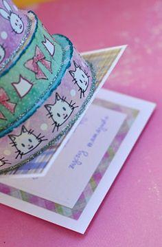 Tak pomysłowo Magda rozwiązała sprawę wpisywania życzeń w kartkę-tort Scrapbooking, Candy, Sweets, Scrapbooks, Candy Bars, Memory Books, Scrapbook, Chocolates, Notebooks