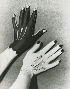"""criticalmera: """"Man Ray - Hands painted by Picasso, 1935 """""""