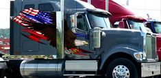 Semi Truck Decals American Flag Tribal Eagle Trailer Rv Vinyl Graphic and up American Flag Eagle, Semi Trailer, Truck Decals, Oracal Vinyl, Semi Trucks, Usa Flag, State Art, Vinyl Wall Decals, Bald Eagle