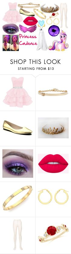 """Girl Princess Cadence Outfit"" by princessluna847 ❤ liked on Polyvore featuring Versace, Shoes of Prey, My Little Pony, Marli, IBB, Philosophy di Lorenzo Serafini and La Maison"