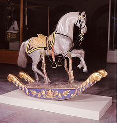 1830s rocking horse used by Crown Prince Karl (the future king of Sweden Norway)