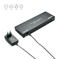 LINK-MI LM-SP20 1x8 HDMI Splitter Over Single Cat5e/6 Cable.      Distributes 1 input HDMI signal to 1 HDMI output and 7 UTP method HDMI outputs.     Transmission distance up to 50m under 1080P@60Hz over Single Cat5e or Cat6 cable     Supports High Definition Audio: Dolby TrueHD, Digital Plus, DTS-HD Master Audio.     Supports 30/36bit deep color display.     Support 3D technology     DC 5V power