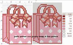 Bag Cross Stitch or Perler Bead Pattern