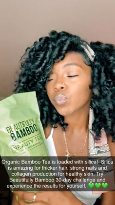 Enjoy Silica Rich Bamboo Tea for healthy hair skin and nails. Take our 30 Day Bamboo Nutrition Challenge and experience the difference. Healthy Hair Growth, Healthy Skin, Beauty Tips, Beauty Hacks, Bamboo Leaves, Strong Nails, Style Challenge, Collagen