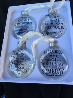 Memorial Sympathy Ornament Memorial by vinyldesignsbybarb on Etsy