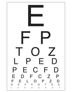 Eye Chart | Opticians Role Play | Free EYFS / KS1 Resources for Teachers