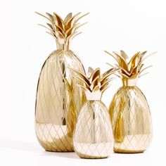 Emily McCarthy Brass Pineapple Candle Holders - Gracious Hostess Gifts  - Southern Living
