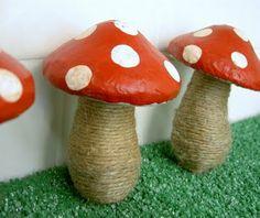 DIY Paper Mache Mushrooms - Super Mario Bros Theme