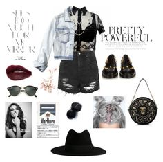 """""""12:01 Pretty Powerful"""" by dre4mland on Polyvore featuring Topshop, Balenciaga, South Moon Under, Hollister Co., Whiteley, Ray-Ban, Yves Saint Laurent and Rika"""