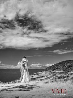 Infrared Photo of Bride and Groom