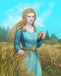 SIF, in norse mythology, is a Goddess of grain and growth. She is the wife of Thor Goddess Of Grain, Norse Goddess, Norse Mythology, Thor, Loki, Pagan Art, Old Norse, Asatru, Norse Vikings