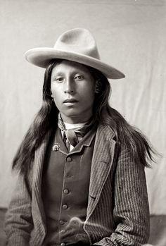 A young Oglala Lakota man. Photo from 1890-1891.