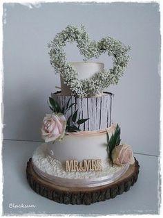 Wedding cake by Blacksun - http://cakesdecor.com/cakes/295377-wedding-cake