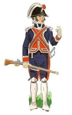 Reales Guardias de Infantería Española 1805 Oficial