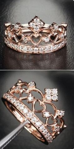 2db4cf50e Anillo para quinceañeras | Rings | Vintage gold engagement rings ...