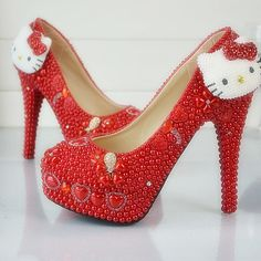 Hello Kitty Rhinestone Wedding Shoes //Price: $112.99 & FREE Shipping // World of Hello Kitty http://worldofhellokitty.com/new-design-handmade-red-wedding-shoes-hello-kitty-decoration-rhinestone-bridal-dress-shoes-red-pearl-prom-party-pumps-plus-size/    #collectibles