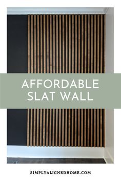 Wood Slat Wall, Wood Slats, Types Of Plywood, Accent Wall Bedroom, Wood Accents, Wood Accent Walls, New Wall, Home Projects, Diy Home Decor