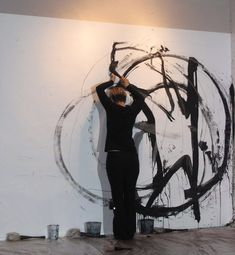 Mark Making, drawing performance by Anastasia Faiella