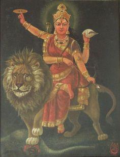 Maa Durga Photo, Maa Durga Image, Durga Kali, Shiva Shakti, Hindu Deities, Hinduism, Mysore Painting, Durga Images, Lord Shiva Family
