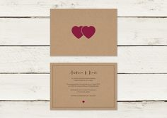 Einladungskarten - Hochzeitseinladung   Kraftpapier   No 10 - ein Designerstück von lilalaunedesign bei DaWanda