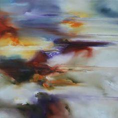 """Winter's End,"" original landscape painting by artist Joanne Duffy (Australia) available at Saatchi Art #SaatchiArt"