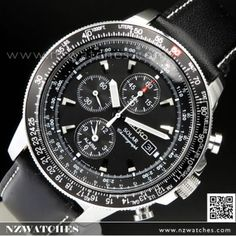 BUY Seiko Flightmaster Solar Chronograph Pilot Watch SSC009P1 4e92f44be8