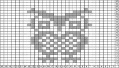 Tricksy Knitter Charts: Owl by rockyy Fair Isle Knitting Patterns, Knitting Charts, Loom Knitting, Knitting Stitches, Baby Knitting, Filet Crochet Charts, Cross Stitch Charts, Cross Stitch Patterns, Owl Patterns