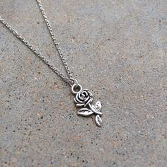 Rosey charm necklace