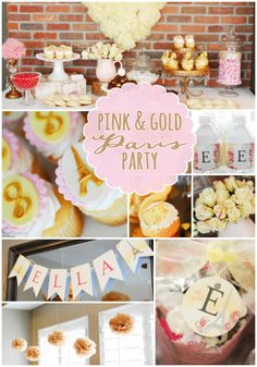 Pink and Gold Paris party with beautiful details