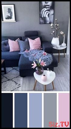 Work Dark Blue Pink Living Room Color Scheme Ideas How Does Your Garden Grow: Tips Living Room On A Budget, Living Room Grey, Living Room Modern, Home Living Room, Living Room Designs, Living Room Furniture, Living Room Decor, Bedroom Decor, Budget Bedroom