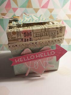 Inspírate I: Dreamy de Heidi Swapp. Exploding box con La Hora del Scrapibuki #scrapbooking #heidiswapp #dreamy