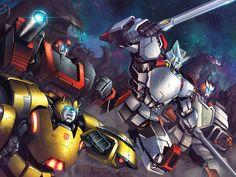 Transformers RID and MTMTE #5 covers by *PriscillaTR on deviantART - Bumblebee, Ironhide, Drift, Ratchet