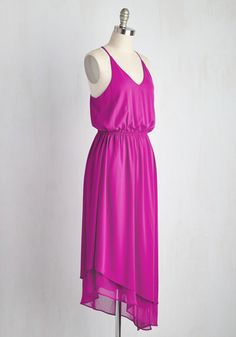 358c36ae8ad Catching a glimpse of yourself in this magenta dress causes you to pause  your drift across