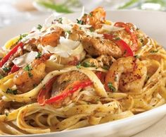 TGIF Cajun Shrimp and Chicken Pasta is the best....this is what I indulge in every now and then.  Yummy!!!