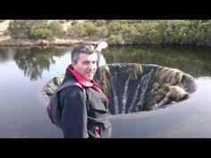 L'incredibile voragine nel cuore di un lago (VIDEO)