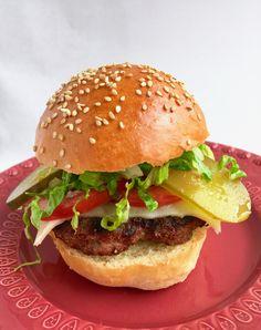 Hamburgers, Slow Food, Vegetarian, Beef, Dinner, Cooking, Breakfast, Ethnic Recipes, Breads