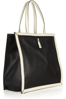 Yves Saint Laurent Walky two-tone textured-leather tote