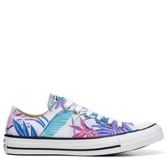 Converse Chuck Taylor All Star Print Low Top Sneakers (White Cyan Magenta) Converse  Chuck dbe3115d68d6d
