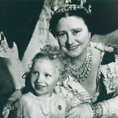 Queen Elizabeth, The Queen Mother and H.R.H. The Princess Anne.