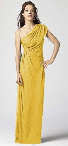 bridesmaids dress in marigold