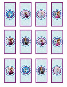 Free Printable Frozen Labels.