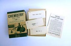 Vintage Flash Cards Inorganic Chemistry // Study by JackpotJen, $25.00